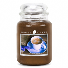 Goose Creek Premium Large Round Scented Candle Jar COFFEE SHOP Double Wicked